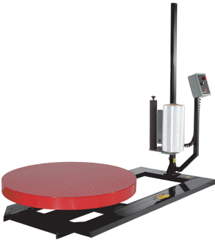 High Profile Fixed Speed Turntable with Toggle Switch Operated Variable Speed Quick-Load Film Dispenser