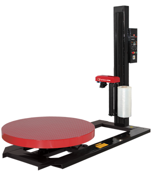 High Profile Variable Speed Turntable with Toggle Switch Operated Variable Speed Quick-Load Film Dispenser